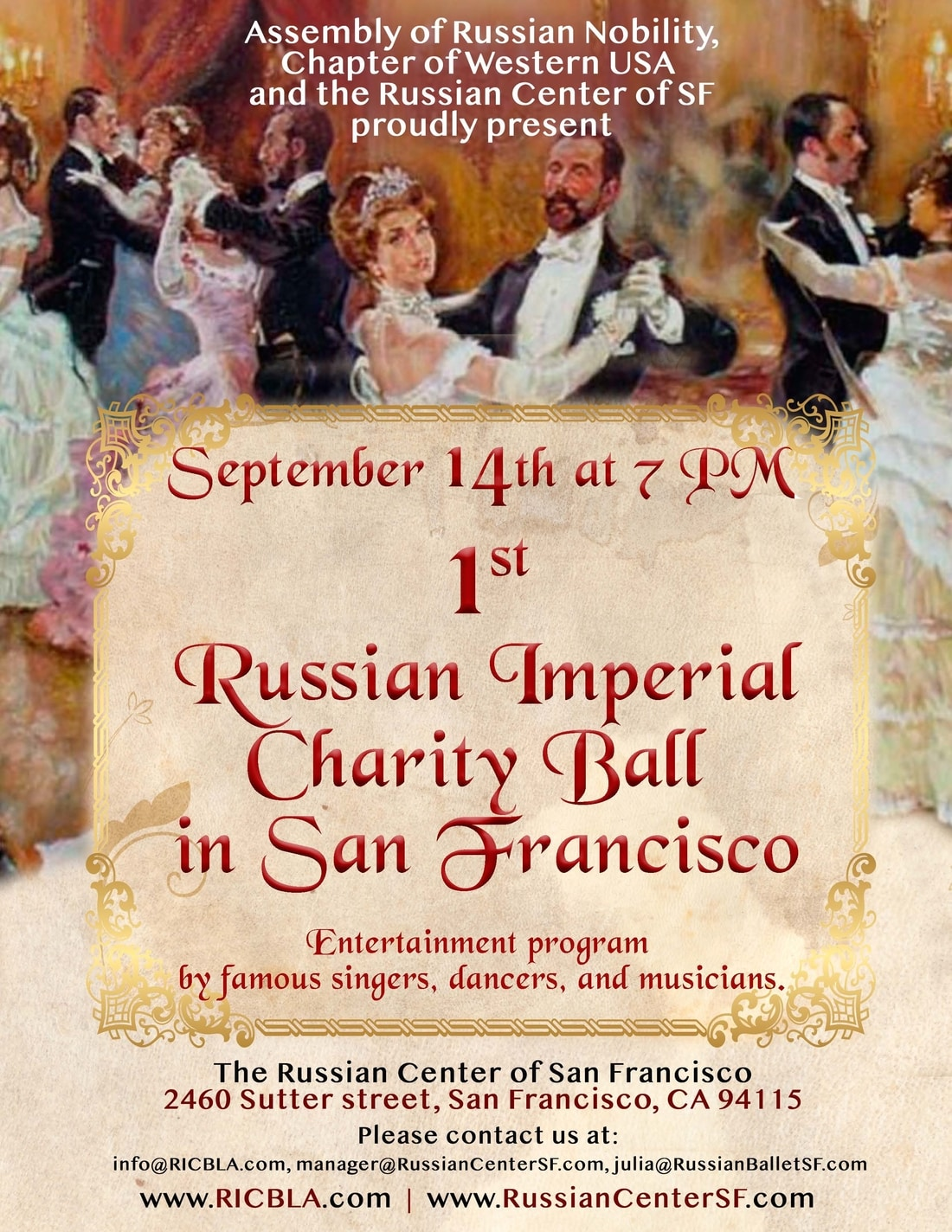 1st Russian Imperial Charity Ball in San Francisco